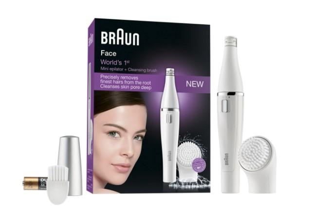 Depilación facial con Braun